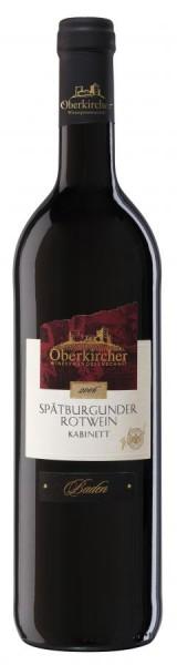 Oberkircher Spätb. Rotwein Kabinett