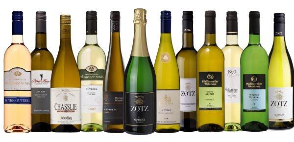 Gutedel Probierpaket mit 12 Flaschen