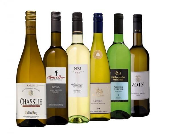 Gutedel Probierpaket mit 6 Flaschen